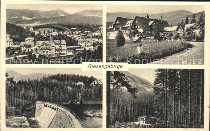 Riesengebirge Melzergrund Baude Krummhuebel Schneekoppe Kat. Tschechische Republik
