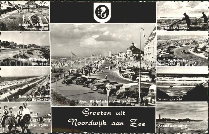 Noordwijk aan Zee  Strandgezicht Ezeltje rijden Kat. Noordwijk
