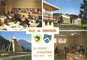 Montreuil sur Mer Collet d Allevard Ville de Montreuil Salle de classe Poterie Portique d escalade Kat. Montreuil Pas de Calais