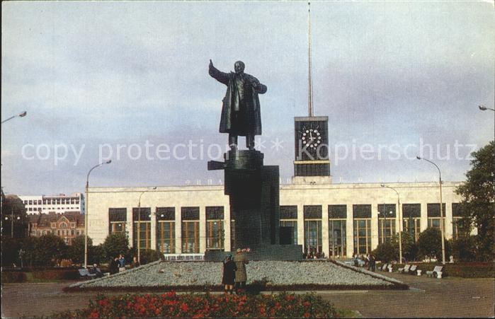 Leningrad St Petersburg Monument to Lenin The Finland Station Kat. Russische Foederation