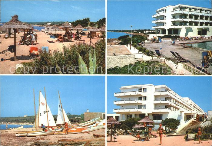 Formentera Hotel Formentera Playa de Mitjorn Strand Segelboot Kat. Spanien