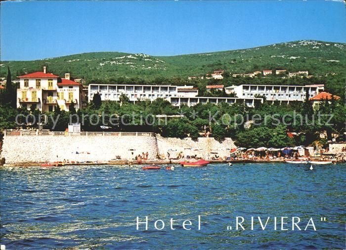ak ansichtskarte crikvenica kroatien hotel therapia kat kroatien nr kn44238 oldthing. Black Bedroom Furniture Sets. Home Design Ideas