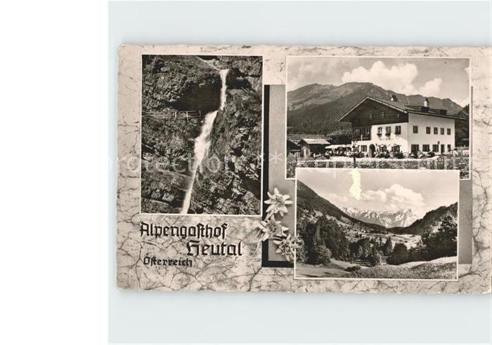 Heutal Unken Alpengasthof Wasserfall  Kat. Unken