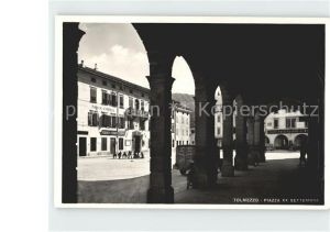 Tolmezzo Piazza XX Settembre Bank Kat. Italien