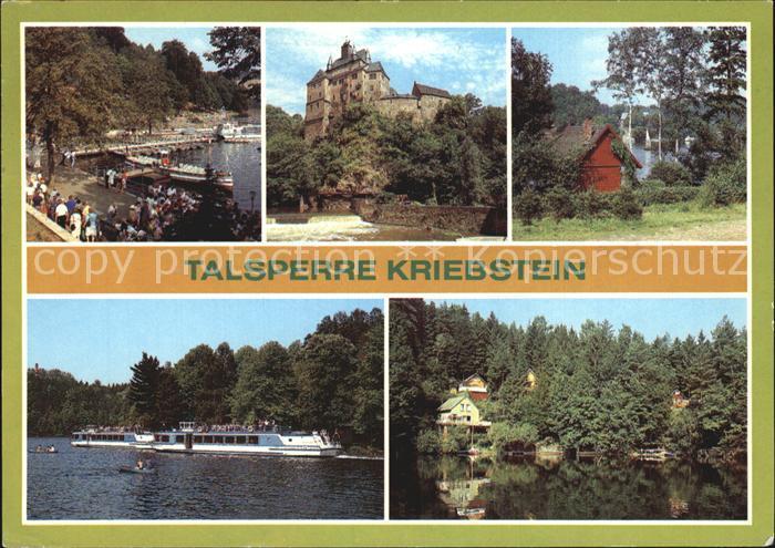Kriebstein Talsperre Burg Kriebstein Kat. Kriebstein