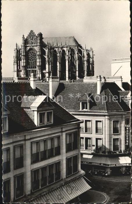 Beauvais Cathedrale St Pierre vue de la Place Jeanne Hachette Kat. Beauvais