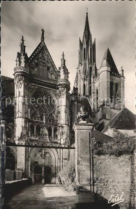 Senlis Oise Cathedrale Notre Dame Facade Nord du Transept Kat. Senlis