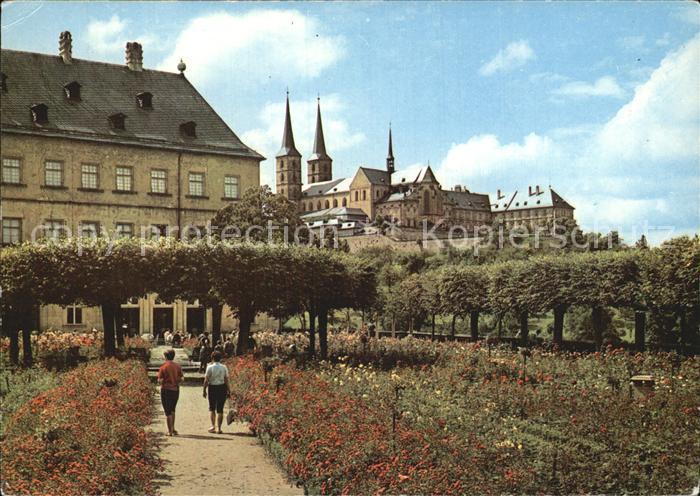 Bamberg Rosengarten in der Neuen Residenz Kat. Bamberg