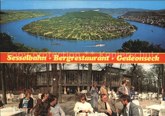 Boppard Rhein Sesselbahn Bergrestaurant Gedeonseck Fliegeraufnahme Kat. Boppard