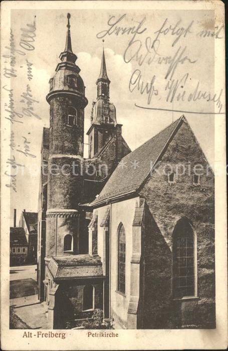Alt Freiberg Sachsen Petrikirche Serie I Bauwerke 4 Stempel Infanterie Regiment No 182 Kat. Freiberg