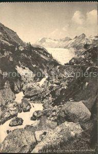 Glacier du Rhone Rhonegletscher et Source du Rhone Kat. Rhone