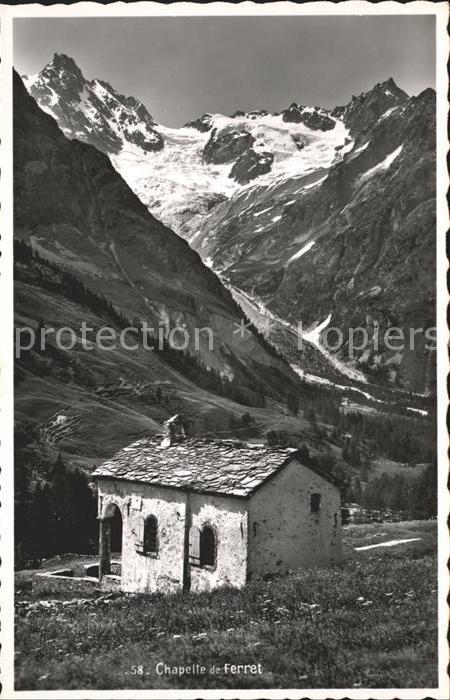 Val Ferret Chapelle Glacier Kapelle Gletscher / Martigny /Bz. Martigny