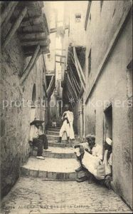 Alger Algerien Une Rue de a Casbah / Algier Algerien /