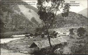 Deutsch Ostafrika Sake Einrichtungen Belgische Besetzung Kat. Deutsch Ostafrika