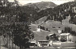 Frauenkirch GR Hotel Post und Frauenkirchli Kat. Davos