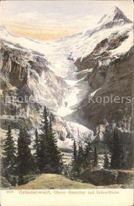 Grindelwald Oberer Gletscher mit Schreckhorn Kat. Grindelwald