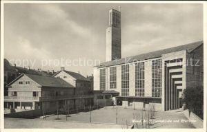 Basel BS St Antoniuskirche und Pfarrhaus Kat. Basel