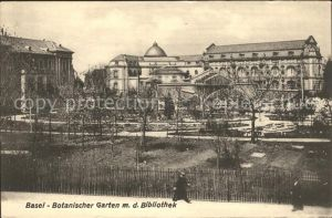 Basel BS Botanischer Garten mit Bibliothek Kat. Basel