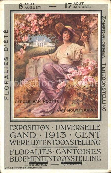 Gand Belgien Exposition Universelle de 1913 Florales d Ete Weltausstellung Kat. Gent Flandern
