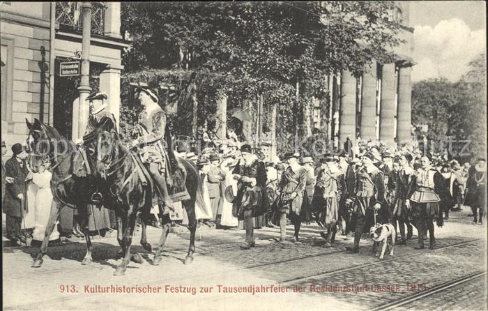 Cassel Kassel Festzug zur Tausendjahrfeier 1913 Kat. Kassel