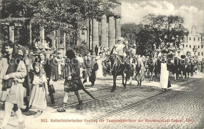 Cassel Kassel Kulturhistorischer Festzug zur Tausendjahrfeier der Residenzstadt Kat. Kassel