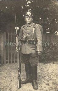 Militaria WK1 Bayern soldat Pickelhaube