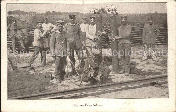 Militaria Eisenbahn Eisenbahner WK1 Kat. Eisenbahn