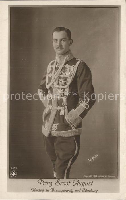 Adel Preussen Prinz Ernst August Herzog zu Braunschweig und Bueneburg  Kat. Koenigshaeuser