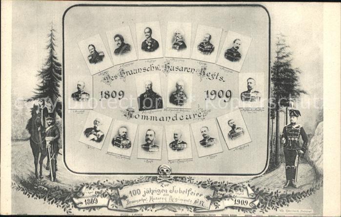 Regiment HR 017 Husaren Husaren Regts. Kommandeure 1809 1909