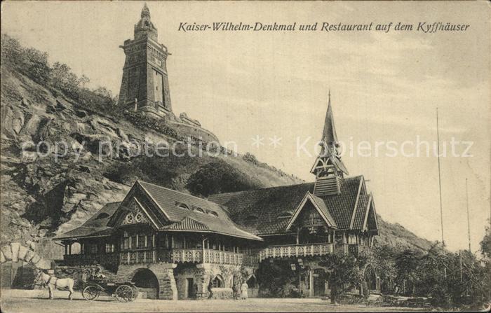 Kyffhaeuser Kaiser Wilhelm Denkmal Restaurant Kat. Bad Frankenhausen