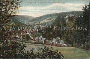 Stolberg Harz Blick von der Dornroeschenbank Kat. Stolberg Harz