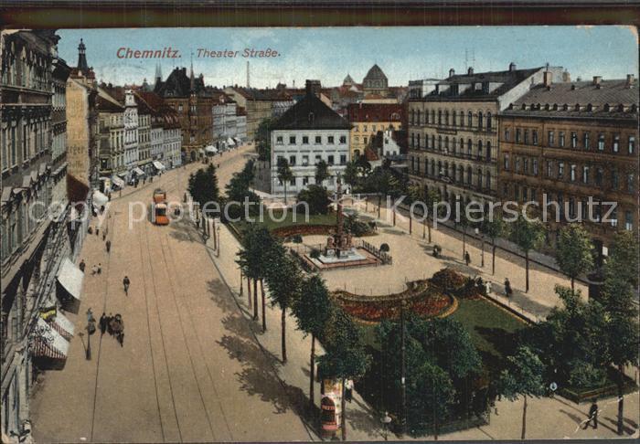 Chemnitz Theaterstrasse Kat. Chemnitz