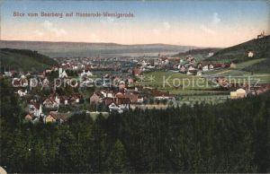 Wernigerode Harz Blick vom Beerberg auf Hasserode Wernigerode Kat. Wernigerode