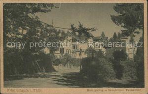 Friedrichroda Herzogaweg Sanatorium Tannenhof Kat. Friedrichroda