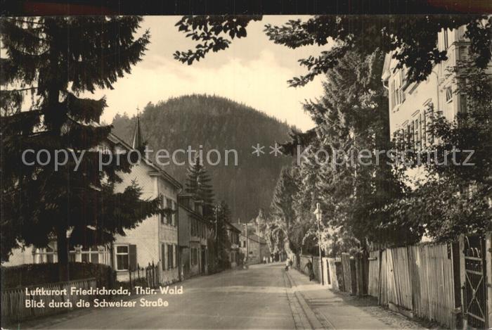 Friedrichroda Blick durch Schweizer Strasse Kat. Friedrichroda