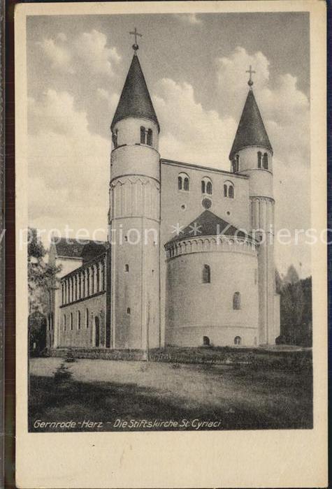 Gernrode Harz Stiftskirche Cyriaki Kat. Gernrode Harz