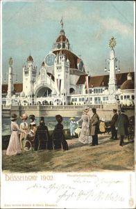 Ausstellung Industrie Gewerbe Kunst Duesseldorf 1902  Hauptindustriehalle Kat. Duesseldorf