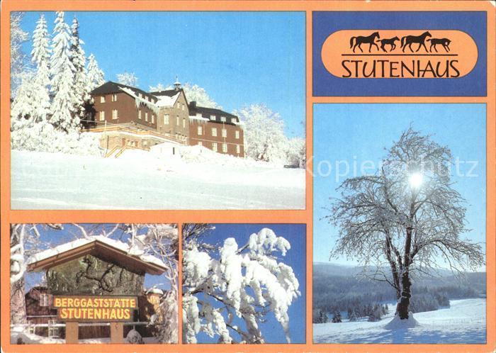 Stutenhaus Adlersberg Berggaststaette Stutenhaus Kat. Schmiedefeld Rennsteig