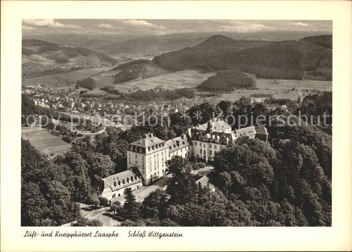 Laasphe Fliegeraufnahme Schloss Wittgenstein Kat. Bad Laasphe