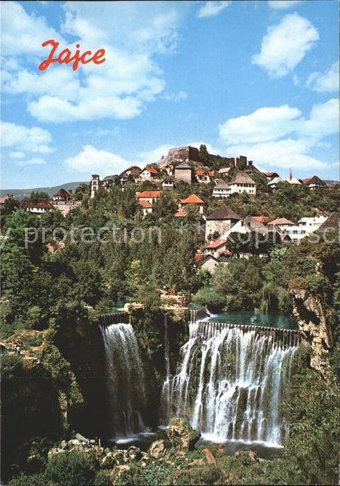 Jajce Bosnien mit Wasserfall Kat. Bosnien Herzegowina