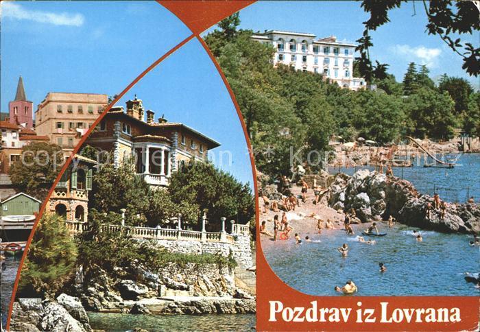 lovran hafen kroatien nr wf68222 oldthing ansichtskarten europa gebiete ehm jugoslawien. Black Bedroom Furniture Sets. Home Design Ideas