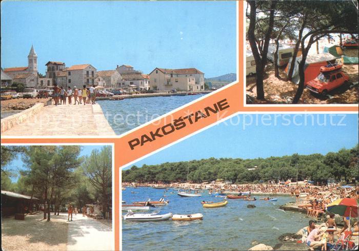 Jugoslawien Yugoslavie Pakostane Strand Promenade Camping Kat. Serbien