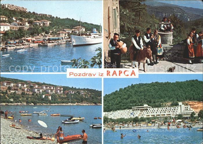 Rabac Kroatien Rapca Trachten Esel Strand Dampfer Kat. Kroatien