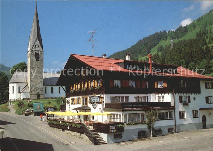 Mittelberg Kleinwalsertal Hotel Neue Krone Kirche Kat. Oesterreich