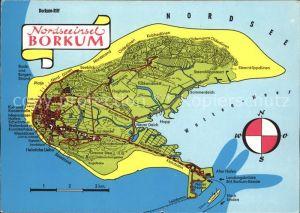 Borkum Nordseebad Landkarte / Borkum /Leer LKR