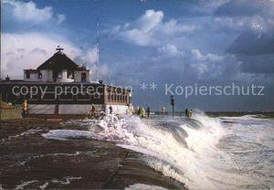 Borkum Nordseebad Sturmflut / Borkum /Leer LKR