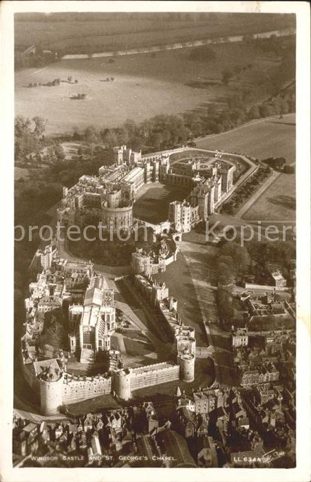 Windsor Castle Castle and St. Georges Chapel Fliegeraufnahme Kat. City of London