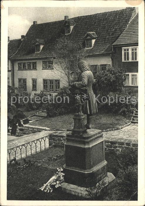 Eisenach Thueringen Denkmal und Haus des Johann Sebastian Bach / Eisenach /Eisenach Stadtkreis