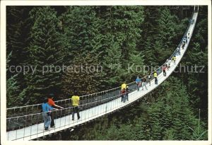 North Vancouver the World Famous Capilano Suspension Bridge spans the banks of the Capilano River Kat. North Vancouver