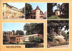 Neuruppin Bahnhof Rheinsberger Tor Fontanedenkmal Tempelgarten Kat. Neuruppin